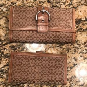 Vintage Coach wallet & check book holder